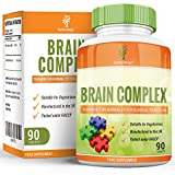 Brain Complex - Vitamin Supplement - Suitable for Vegetarians- 90 Tablets (3 Month Supply) by Earths Design