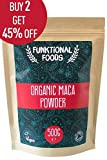 Organic Raw Peruvian Maca Powder 500g | Quality tested for Microbes, Heavy Meatals & over 500 Pesticides | Highest quality Peruvian Maca Root Powder | By Funktional Foods