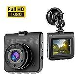 "Accfly Dash Cam Full HD 1080P Car Camera Video Recorder 140 Degree 2.2"" Screen G-Sensor Night Vision WDR Loop Recording"