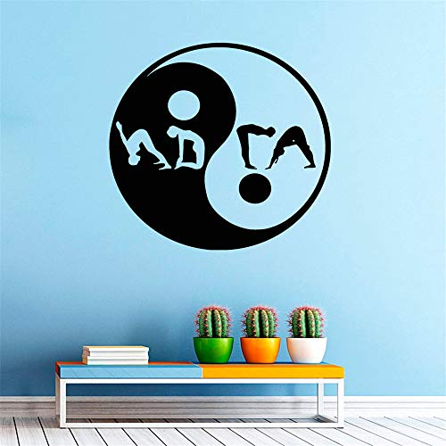 yiyiyaya Adesivo murale Creativo Yin e Yang Sign Yoga Sport Fitness Palestra Decorativo Scava Fuori...