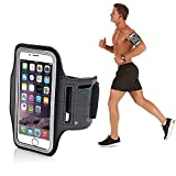 Techonto Armband, Sports Armband, Sports Arm Belt with Adjustable Workout Band for Gym Running and Jogging Exercise Gym Activities Case for 5.5 inch Mobile