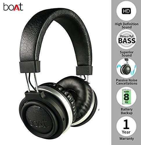 Audio Palace, boAt Rockerz 470 Wireless Headphone Color - Black