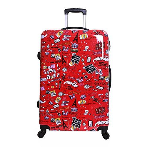 Karabar Dewberry 76 cm XL bagagli rigidi, Rosso