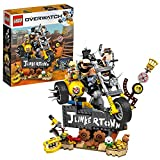 LEGO Overwatch® - Chacal et Chopper, jeu de construction inspiré du jeu vidéo, inclus la moto de Chopper et un panneau Junkertown, 380 pièces - 75977