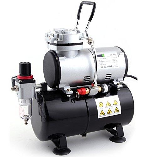 Compresseur Airbrush Professionnel Fengda FD-186 avec réservoir d'air / Régulateur de pression/ 4 bars / Arrêt Auto