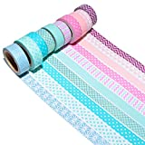 K-LIMIT 10 Set Washi Tape rollos de Washi Tape, cinta decorativa autoadhesivo, cinta de enmascarar, masking tape Scrapbooking DIY Washitape Scrapbooking DIY 6170