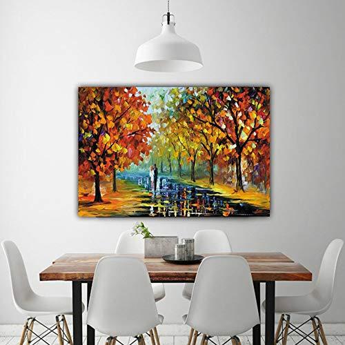 ETH Autunno boschi coppia personaggi paesaggio pittura nucleo frameless pittura decorativa pittura...