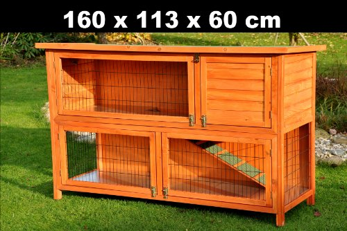 Kaninchenstall XXL von Nanook 160 x 60 x 113 cm