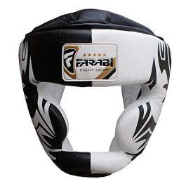 Boxe capo guardia del casco protettore di addestramento di MMA Pro Full Face, Protezione guancia Copricapo vera pelle