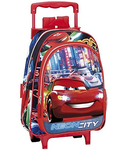 ZAINO TROLLEY CARS NEON CITY 37 CM