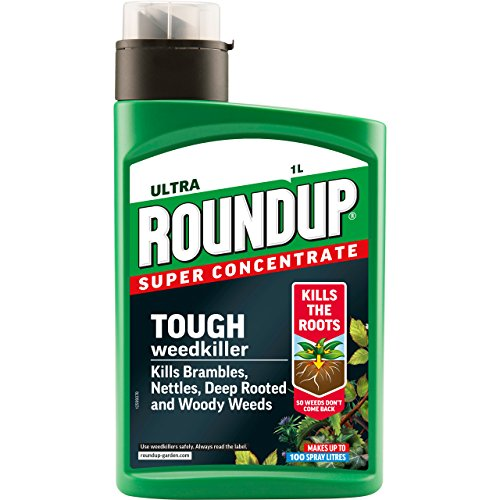 Roundup Ultra Weedkiller Concentrate Bottle, 1 L