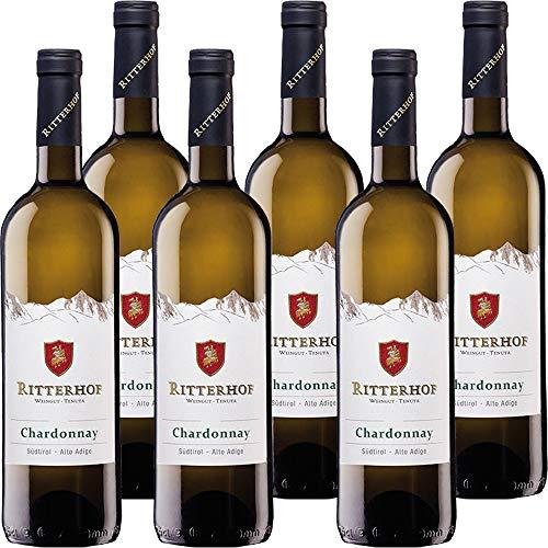 Chardonnay Ritterhof   Vino Bianco Alto Adige DOC   Sudtirol   6 Bottiglie da 75 Cl   Idea regalo