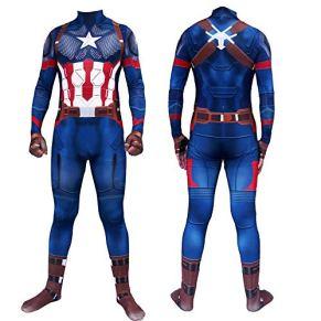 V1 Clothing CO Capitán América Traje De Halloween Cosplay Traje Adulto Juego De Roles Traje De Superhéroe Ropa Niños A-L