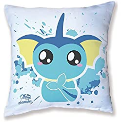 Cojín Decoración Pokemon aquali/Vaporeon Chibi y Kawaii by Fluffy Chamalow - fabricado en Francia - Chamalow Shop