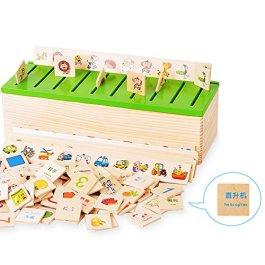 hibote Montessori Materiale bambino precoce educazione inglese e cinese di apprendimento giocattolo