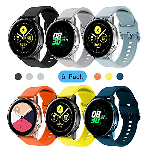 Yayuu Compatibile Samsung Galaxy Watch Active/Active 2 40mm 44mm Cinturino 20mm Braccialetto di Silicone Polso Band Ricambio Strap per Galaxy Watch 42mm/Gear Sport/Gear S2 Classic/Vivoactive 3 Watch