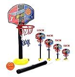 OurKosmos ajustable niños Kids Junior del aro de baloncesto y el soporte de la bomba de la bola del tablero trasero Juego de bolas diversión al aire libre Juguetes actividades de interior y por 3-7 años los niños de más edad juego de deportes