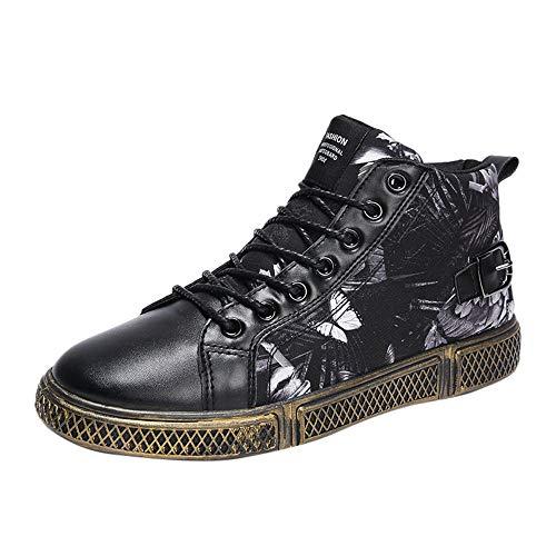 JODIER Zapatillas de deporte con estampado de mariposa antideslizante y con cordones de alta costura para hombres Calzado Unisex Adult Zapatillas de Gimnasia Aire Libre Botas de Montaña para Hombre