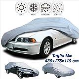 DOBO® Telo copriauto impermeabile in pvc copertura copri auto anti pioggia sole ghiaccio (M)