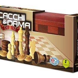 Editrice Giochi 6036101 – Deluxe Dama e Scacchi in Legno