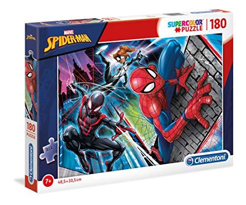 Clementoni Supercolor Puzzle-Spider Man-180 Pezzi, Multicolore, 29293