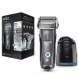 Braun Series 7 7865 cc - Afeitadora eléctrica para hombre de lámina, en húmedo y seco, máquina de afeitar barba con estación de limpieza Clean&Charge, plata