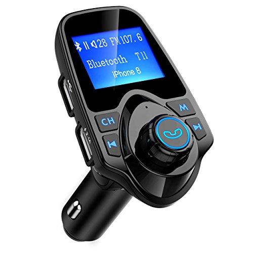 Mpow Trasmettitore FM Bluetooth, FM Trasmettitore per Auto Radio Adattatori Vivavoce Car Kit per...