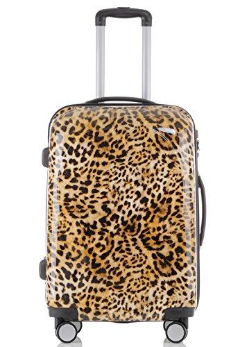 Polycarbonat Hartschale Koffer 2060 Trolley Reisekoffer Reisekofferset Beutycase 3er oder 4er Set in 12 Motiven (Leopard) - 2