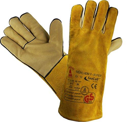 Profi Guanti da lavoro Guanti di sicurezza per saldatore MÜHLHEIM - II - SUPER giallo - Taglia: 8