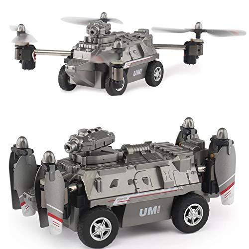 WINJEE, 1 Set FY330 2 in 1 Aria e Terreno modalità 0.2MP 720 P WiFi FPV Militare Elicottero Drone Carro Armato Giocattoli 2.4G 4CH RC Quadcopter