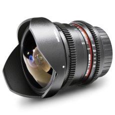 Walimex 18710 SLR - Objetivo (SLR, 10/7, Objetivo de ojo de pez, 0,3 m, 8 mm, 180°)