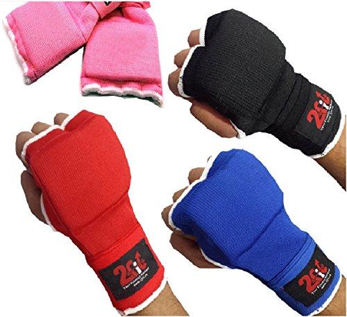 2Fit Boxing, guanti con imbottitura interna in gel e fasce, unisex, per arti marziali miste, sacco...
