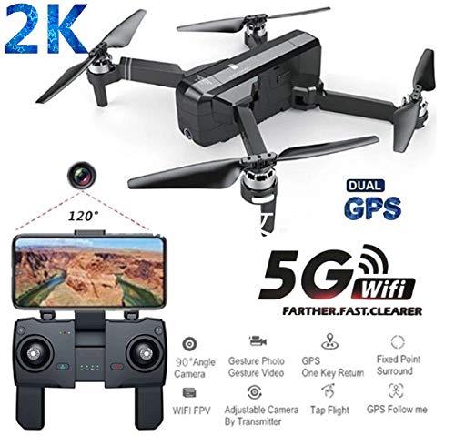 Alician Droni SJRC F11 PRO GPS 5G WiFi FPV con Fotocamera 2K 25 Minuti Tempo di Volo Brushless Selfie RC droni Quadcopter 2 Batteria