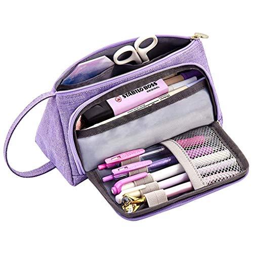 Memoryee Astuccio per matite di grande capacità Durevole Studente Porta penne Organizzatore con...