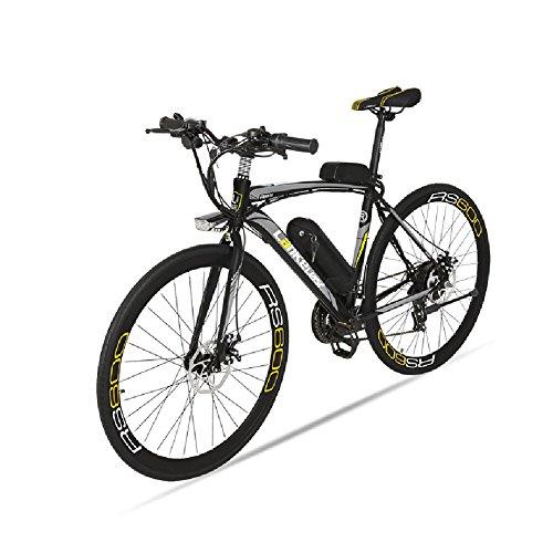 Vlo-de-ville-lectrique-Extrbici-RS600-700C-240W-36V-15A-Bicyclette-Homme-en-Alliage-dAluminium-SHIMANO-TZ-21-Vitesses-avec-Suspension-de-la-Fourchette-Couleur-Gris-Cyrusher-Cadeau-de-Nol