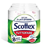 scottex tuttofare due lati diversi 2 confezioni da 4 maxi rotoli