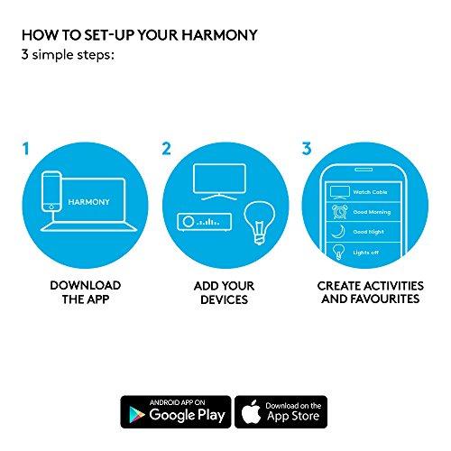51Org5u7ukL [Bon Plan Philips Hue] Logitech Télécommande Harmony Elite Harmony Hub et Application Design Elégant Télécommande Universelle Actions Rapides Configuration Facile Noir
