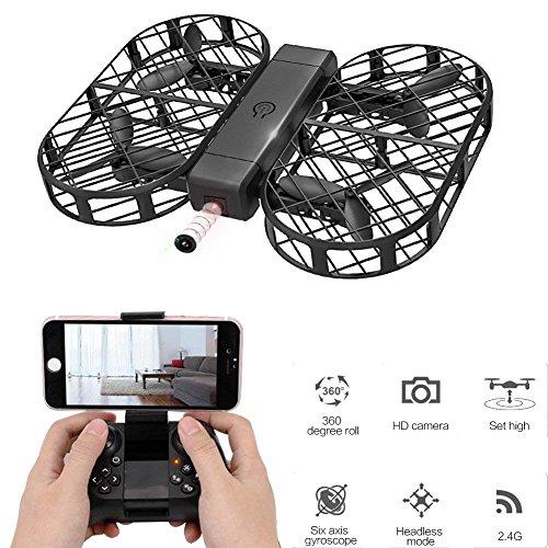YMXLJJ Drone Pieghevole Drone RC Con Telecamera 720P FPV Controllo Wifi 2.4G 4CH Giroscopio A 6 Assi...