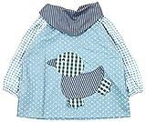 SUNNY JU - Babero Impermeable Bebé Manga Larga Infantil Delantal Algodón Suave 12-18 Meses L - Azul