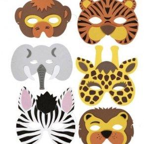 RETON 20 Piezas Máscaras de Animales para Niños, Caretas de Espuma para Fiesta y Cumpleaños (20 Piezas)