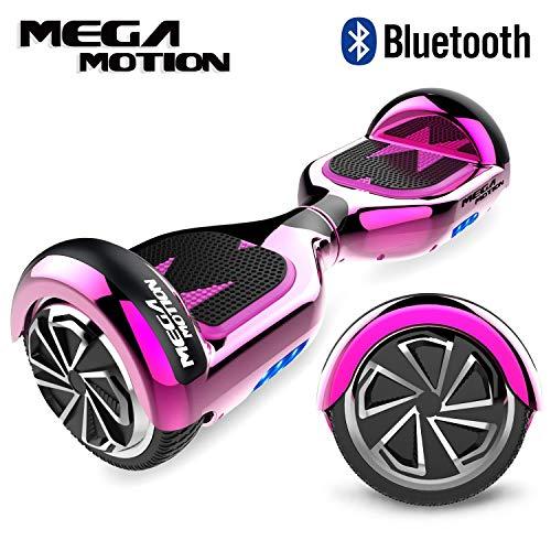 Mega Motion Hoverboard 6.5 Pouces Gyropode Balance Board,Scooter électrique d'auto-équilibre,Skateboard de Haute qualité,2272 LED certifié UL,Roues LED Light,Haut-Parleur Bluetooth,Moteur 700W