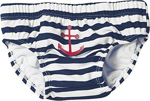 Playshoes - 460110 Costume da bagno Bambino, Multicolore (171 marine/weiß), 74/80 cm