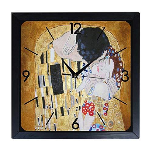 Orologio da parete in Legno Klimt - il bacio