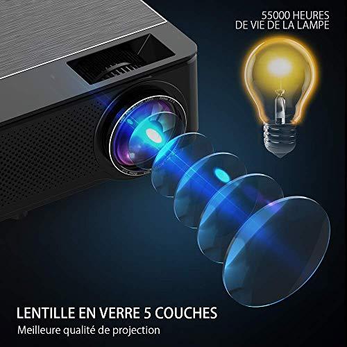 YABER Vidéoprojecteur 4200 Lumens Soutien 1080P Full HD Home Cinéma Projecteur LED avec Deux Haut-parleurs Stéréo (de Qualité HiFi - Haute-f... 8