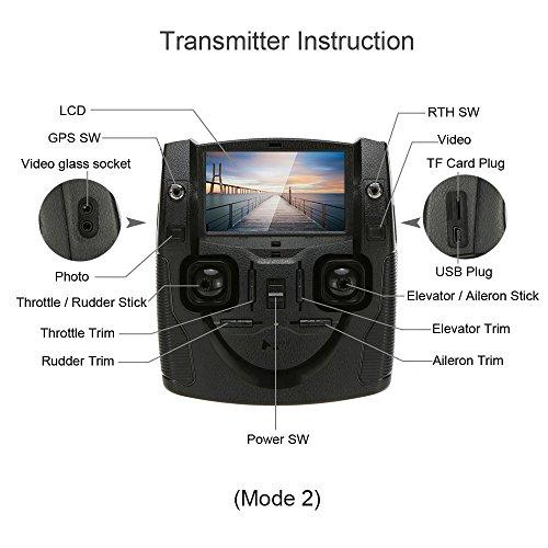 Hubsan H501S X4 Brushless FPV Quadricoptère Drone GPS avec Caméra 1080P HD 5.8Ghz(H501S Blanc) 8