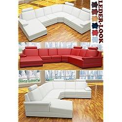 :::: MODELL ANGELINA: DESIGNER WOHNLANDSCHAFT LEDER LOOK (6 FARBEN, 2 AUSRICHTUNGEN) > KOSTENLOSER VERSAND in AT & DE ! > BERATUNG: Tel: 0043(1)715-16-16, (Mo. bis Fr. 9.30 bis 15 Uhr) oder E-Mail: office.at@vienna-international-furniture.com :::