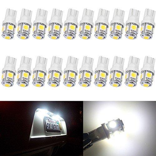AMAZENAR 20-Pack T10 194 168 2825 W5W 175 158 Bianco 5050 5 SMD LED Light 24V, Illuminazione per...