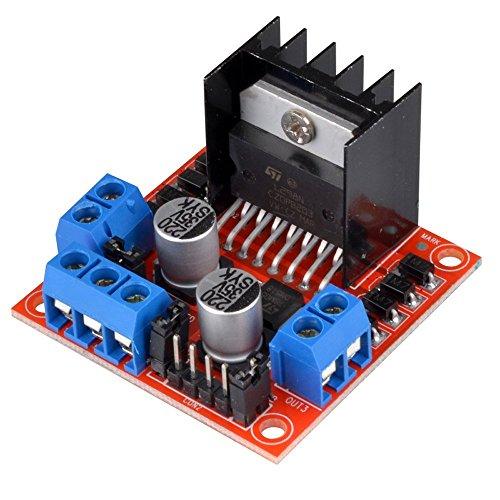 Caracteristicas:1. L298N como chip principal conductor comete una fuerte capacidad de conducción / calefacción pequeña / fuerte anti-interferencias2. Uso condensadores del filtro de gran capacidad y diodo con función de protección de rueda li...