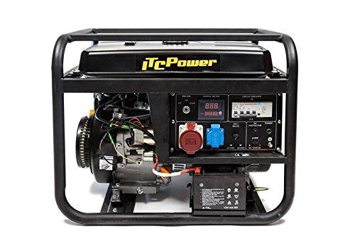 ITCPower, GG9000LE-3, Generador Gasolina Trifásico, 6600 W, 400 V, Negro