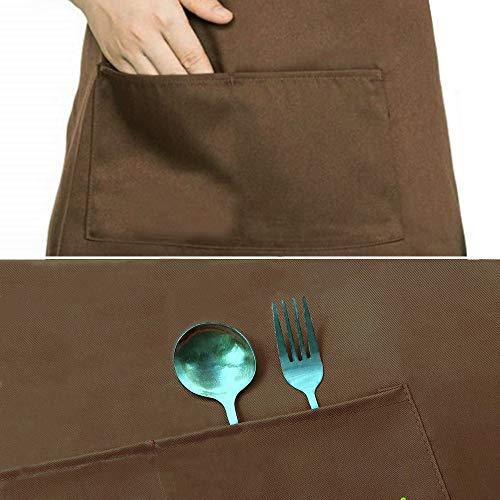 2-Pack-Schrze-Kochschrze-Kchenschrze-Latzschrze-Verstellbarem-Nackenband-100-Baumwolle-fr-Frauen-Mnner-Chef